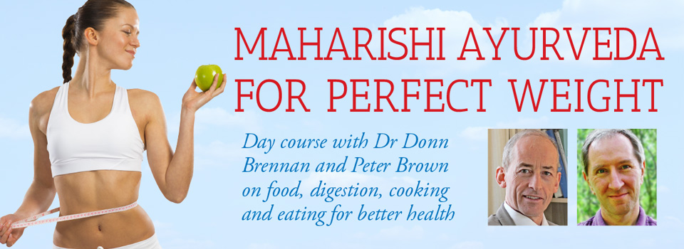 Maharishi Ayurveda for perfect-weight day course April-2015