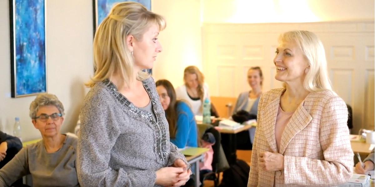 Charlotte at health seminar